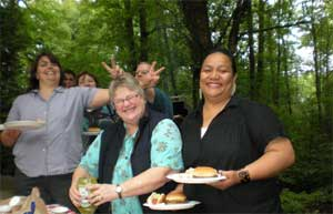 Pastor and other members at the 2010 picnic